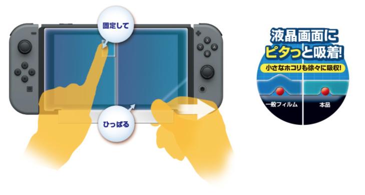 貼りやすい液晶保護フィルム ピタ貼り for Nintendo Switch 2017-10-06 18-26-31